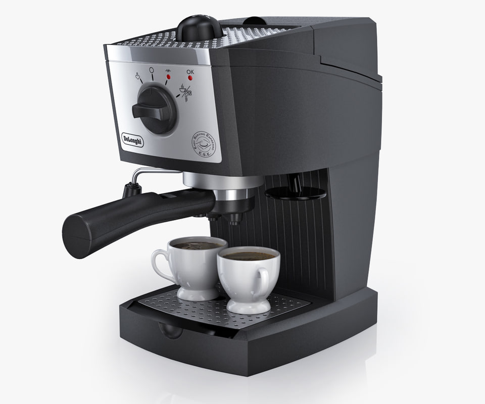coffee maker longhi ec 155 3d model