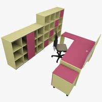 3d model of rack office table