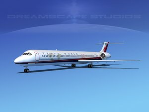 mcdonnell douglas md-80 world 3d max