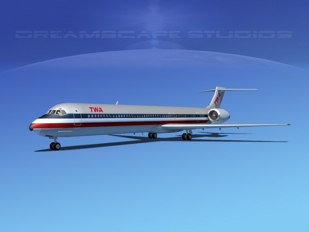 3d model mcdonnell douglas md-80 world