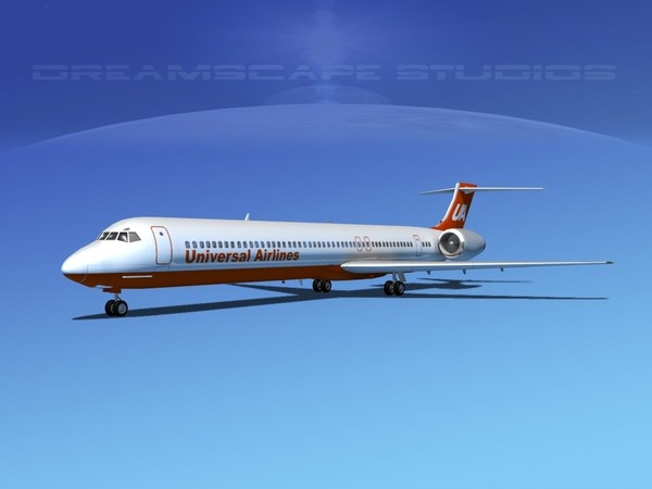 3d model mcdonnell douglas md-80 airliners