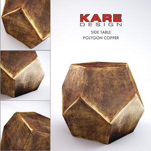 kare table 3d model
