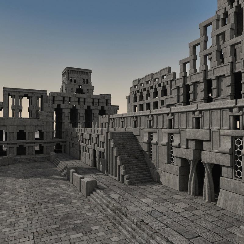 3dsmax ancient fantasy town