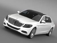 mercedes maybach s400 x222 3d model