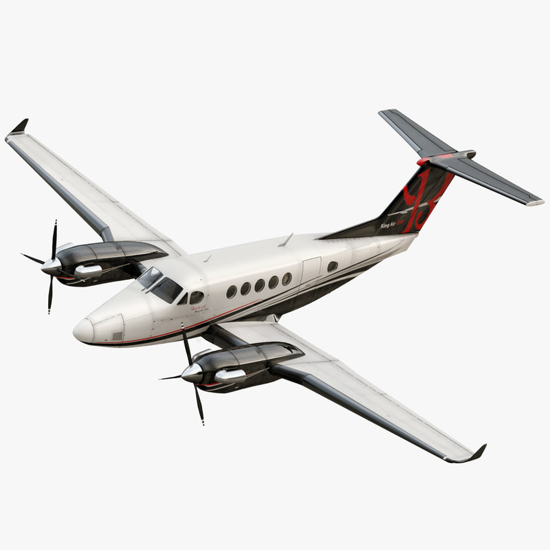 beechcraft king air 200 3d model