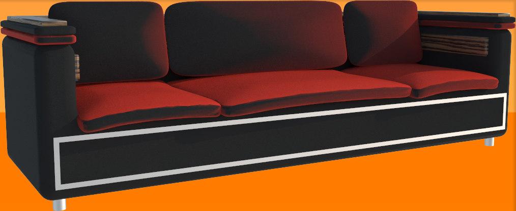 3d model seat furniture
