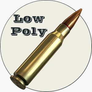 3d model 308 bullet