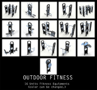 Outdoor Fitness equipments Collection 2