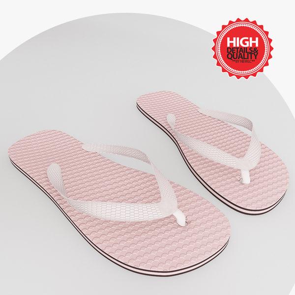 tong flip flop 3d 3ds