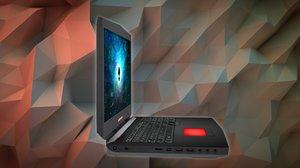 alienware 17 laptop 3d model