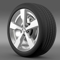 holden volt wheel 3d model