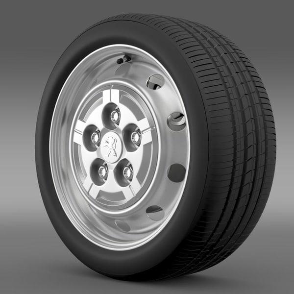 3ds peugeot boxer van wheel