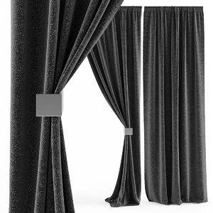 3d model hq curtains