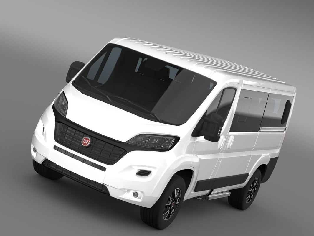 fiat ducato panorama l2h1 3d model. Black Bedroom Furniture Sets. Home Design Ideas