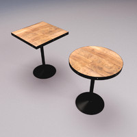 bar cafe tables 3d max