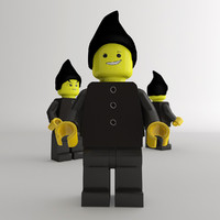 realistic lego figure 3d x