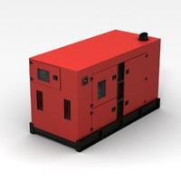 red generator 3d model