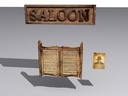 saloon door 3D models