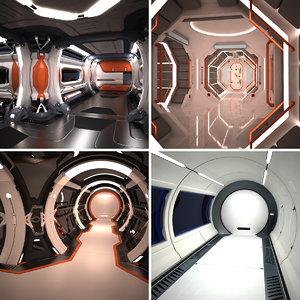 corridors interiors 3d max