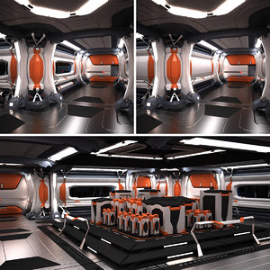 3dsmax space spaceship