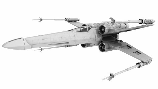x-wing 3d model