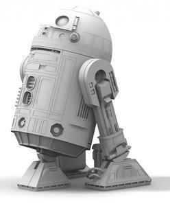 3d r2-d2 star wars model
