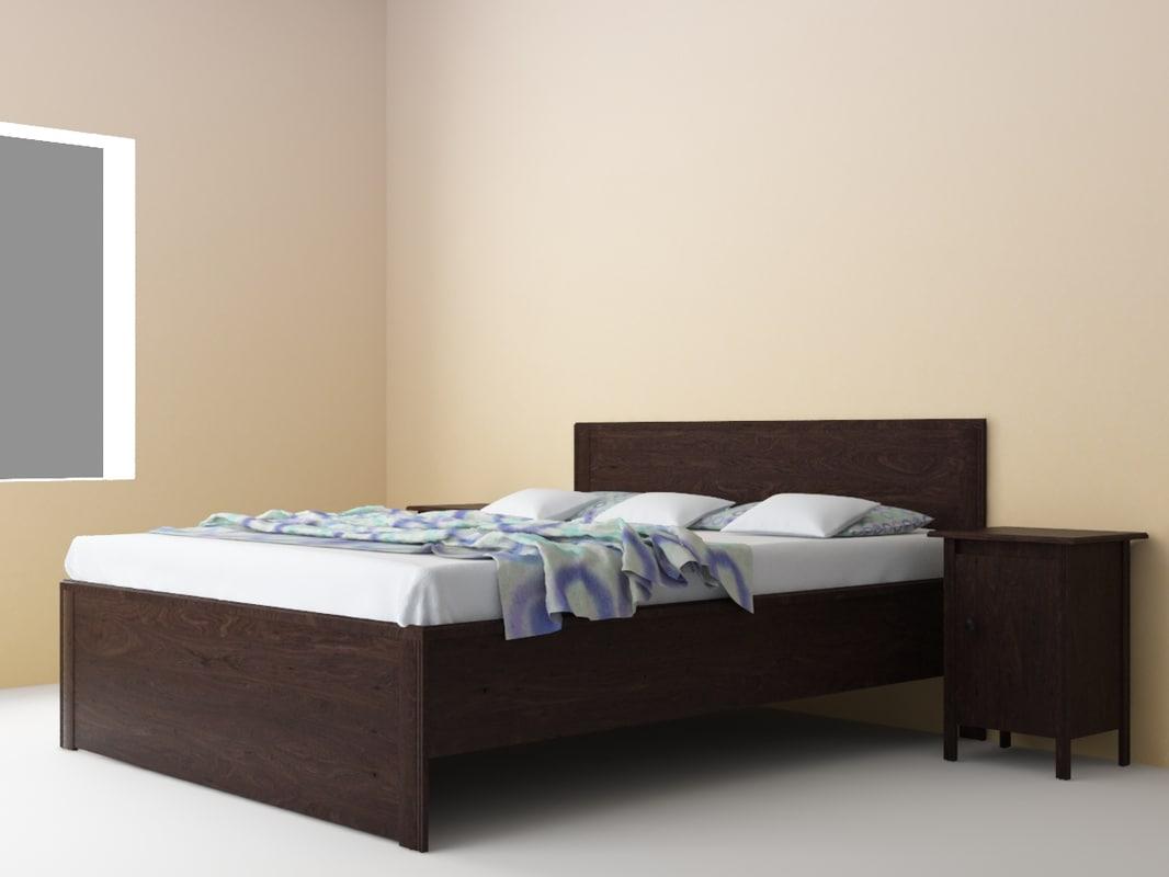 brusali bedroom set bed 3d max - Brusali Bed Frame Review