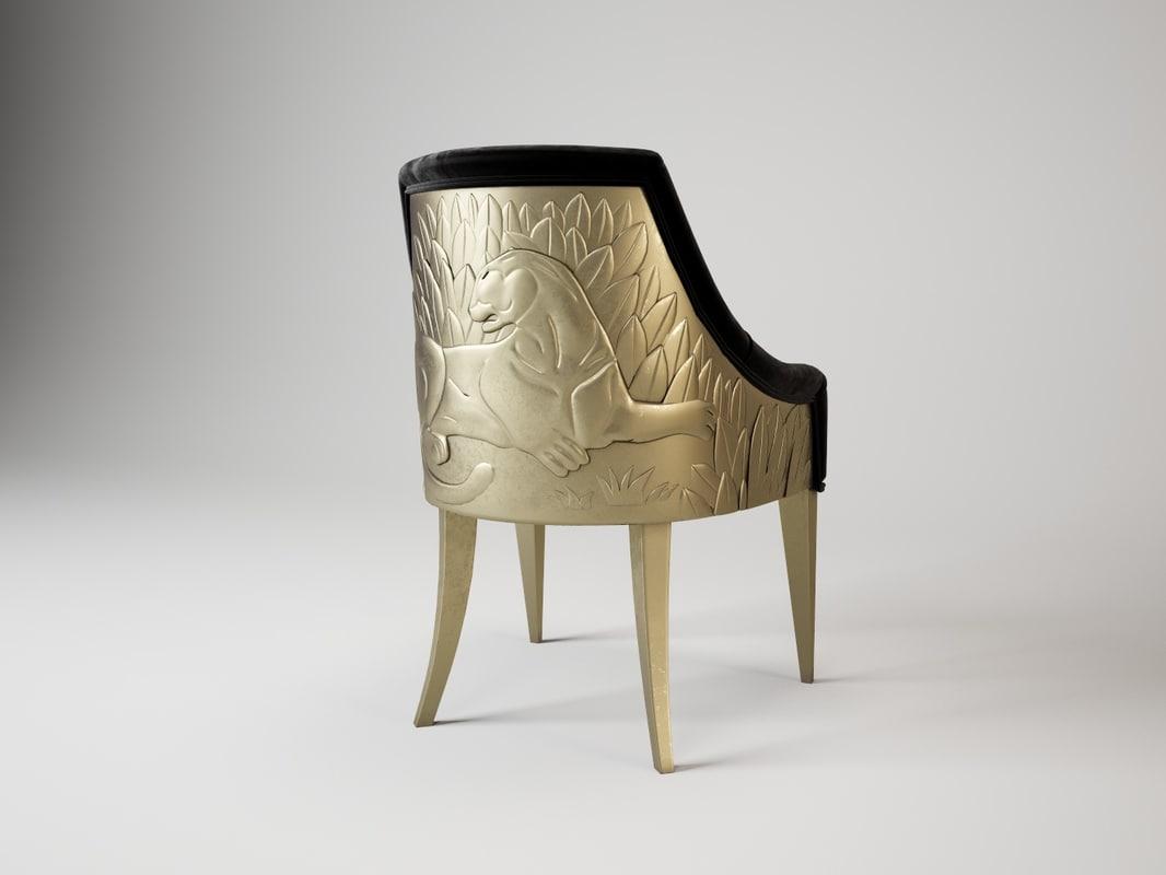 3d alchymia edvige chair model