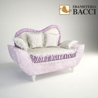 little sofa ebanisteria bacci 3d model