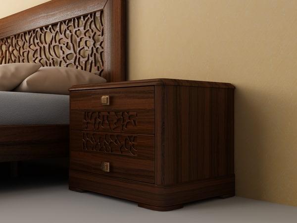 bed nightstand 3d model