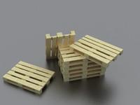 3d pallet wood platform model