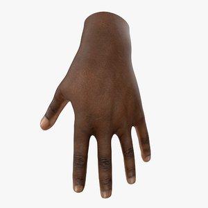 3d hand skin type 6 model
