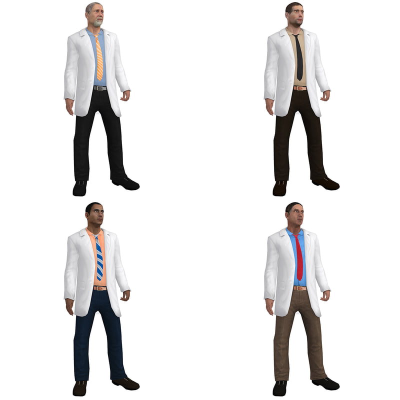 3d pack rigged doctor model