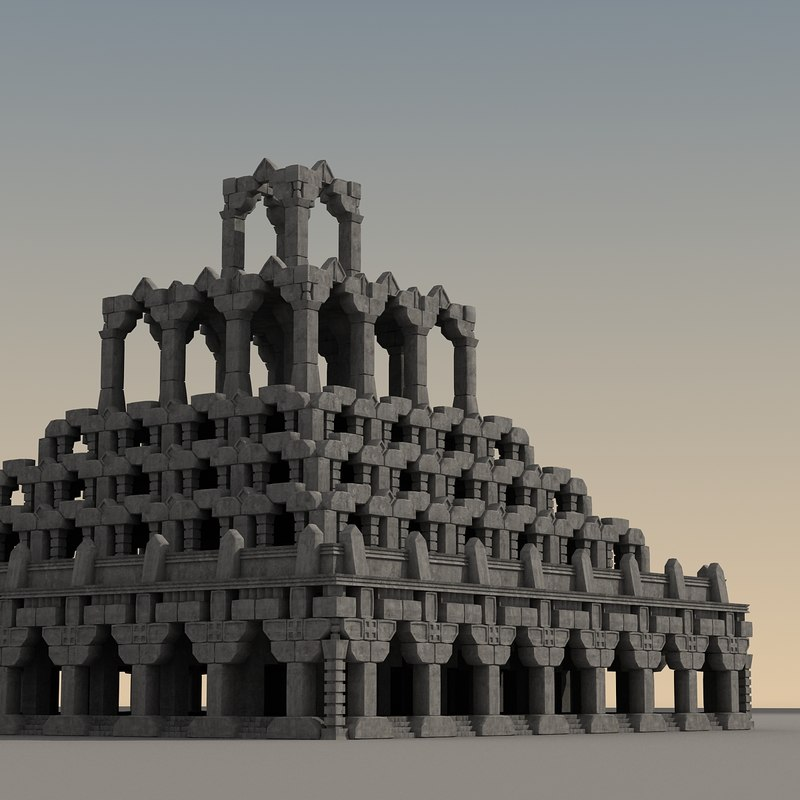 ancient fantasy building 3d model