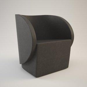 free obj mode armchair calto brunner