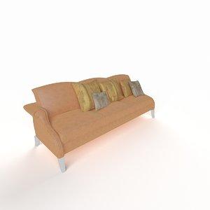 3d model modern sofa triple