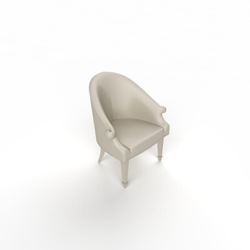 modern sofa single 3d obj