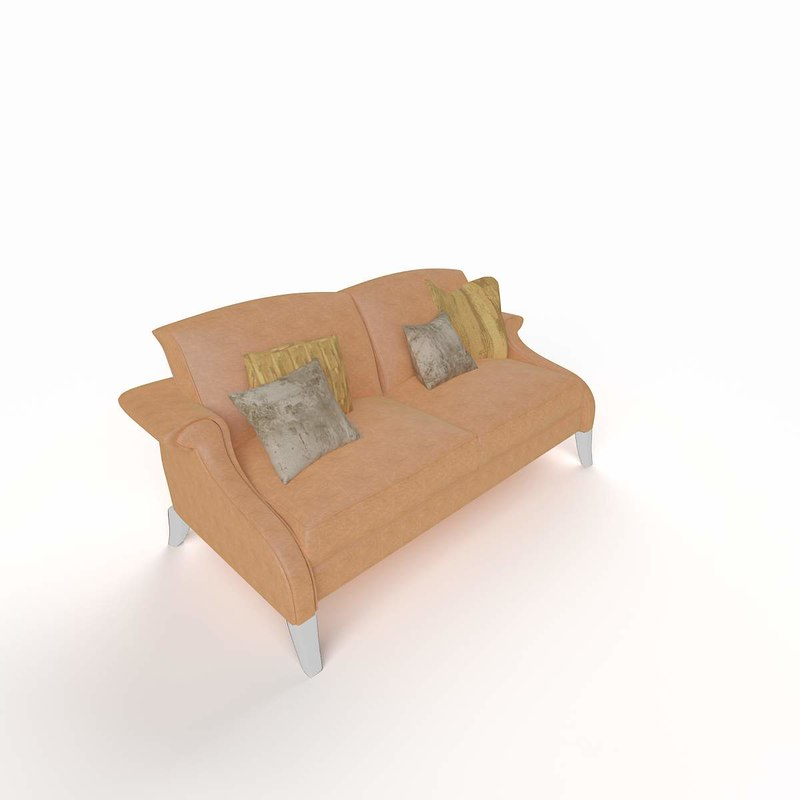 3d modern sofa double model
