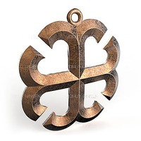 3d pendant france cross facet model