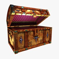 treasure chest gemstones 3d model