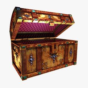 treasure chest gemstones 3d model