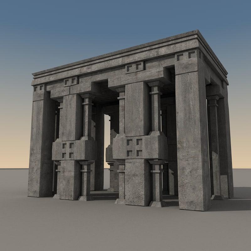 ancient fantasy building 3d max