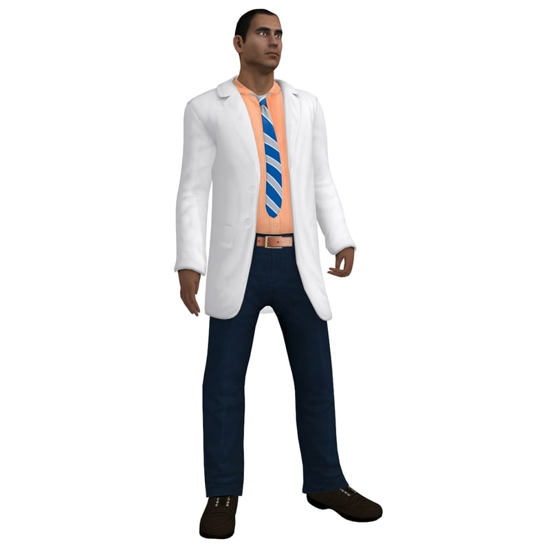 3d rigged doctor model