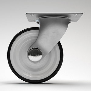 3d model caster wheel