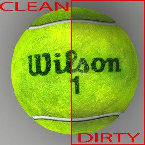 3dsmax tennis ball wilson