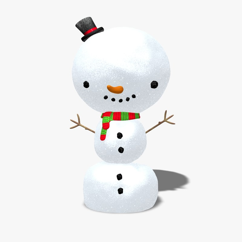 snowman scarf 3ds