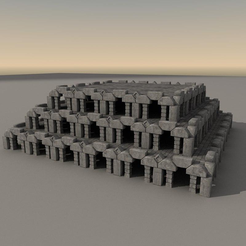 ancient fantasy building 3d obj
