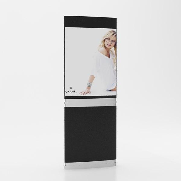 3d model advertising panel