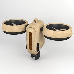max futuristic surveillance drone