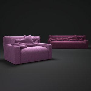 sofas-paola-navone 3d obj